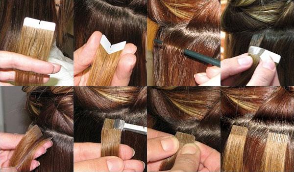 Ленточное наращивания волос в домашних условиях 722